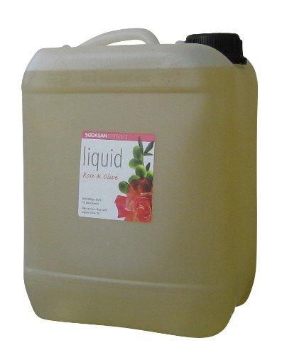 SODASAN LIQUID Rose-Olive im 5 Liter Kanister - ökologische Bio Seife (Flüssigseife Bio)