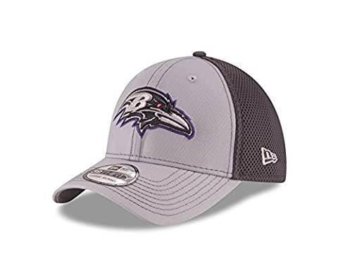 NFL Baltimore Ravens Grayed Out NEO 2 39THIRTY Stretch Fit Cap, Small/Medium, Gray