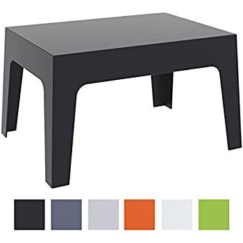 Grosfillex Miami Table Basse Anthracite Amazon Fr Jardin