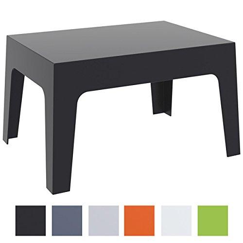 CLP Gartentisch Box aus Kunststoff I Stapelbarer Beistelltisch mit Einer Höhe von: 43 cm I Wetterfester Outdoor-Tisch I verfügbar Schwarz