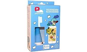 Playbrush - Bluetooth Zahnputzaufsatz für Kinderzahnbürsten zum spielerischen Erlernen der richtigen Zahnpflege, Blau, 1 Stück