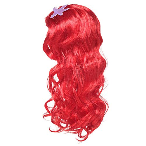 Girls Little Mermaid Princess Fancy Dress Up Costume Children Summer Ariel Dresses Kids Birthday Party Outfit Clothing Red - Child Beauty Queen Kostüm