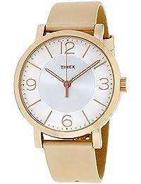 91ebd3fc305c Timex tw2r11600 mujeres tono de oro de la moda marrón bronce correa de piel  analógico reloj
