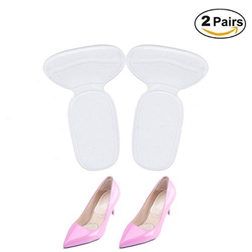 Blase Pad (finlon Absatz hinten Pads Einlagen Ferse Kissen Einlegesohlen Gel Foot Pads für High Heels, Blasen, Schuh Silikon fügt (2Paar))