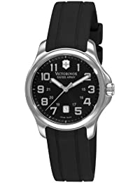 Swiss Army Officer'S 125 241367 32mm Stainless Steel Case Black Rubber Anti-Reflective Sapphire Women's Watch