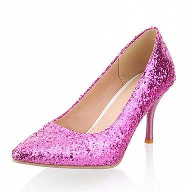 Zormey Frauen Schuhe Kunstleder Stiletto Heel Heels Heels B¨¹ro & Amp Karriere/Kleid/Casual Lila/Silber/Gold US2.5 / EU32 / UK1 / CN31