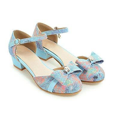 LvYuan Sandali-Ufficio e lavoro Formale Casual-Club Shoes-Basso Quadrato-PU (Poliuretano)-Nero Blu Rosa Black