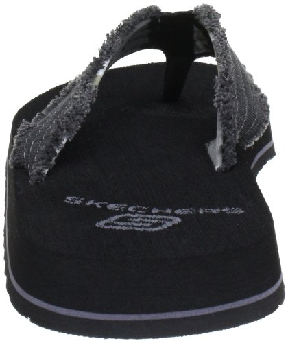 Skechers Tantric Fray, Tongs homme Noir (Blk)