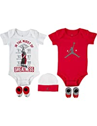 4688e30ef6f3 Nike Air Jordan from The JUMPAN23 Collection - Baby 5-Piece Gift Set Red