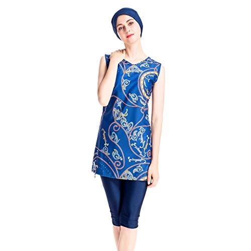 YUAN Damen Badebekleidung, muslimischer Badeanzug mit Badeanzug Beachwear - Gepolsterten 1 Pc Badeanzug
