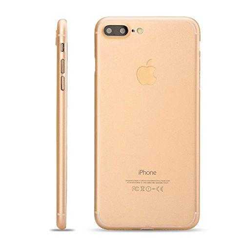 LAMINGO iPhone 7 Hülle Slim Case Matt [Matt TPU - 2017 Edition] Schutzhülle Handyhülle in transparent Gold