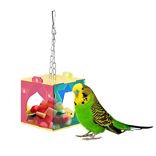 LianLe®Comedor de aves comedero de pájaros,dispositivo de alimentación para mascota pájaro alimentador