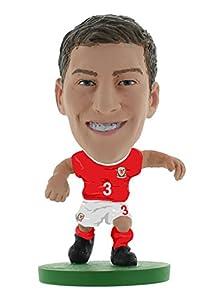 SoccerStarz SOC1045 - Figura de Equipo Nacional de Gales con Licencia Oficial de Ben Davies en Kit de Inicio.