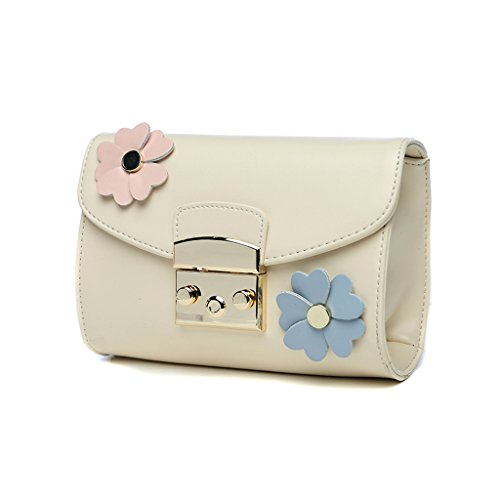 Home Monopoly Sacchetto di spalla largo della cinghia della spalla Sacchetto del messaggero del sacchetto del messaggero di modo Piccolo pacchetto quadrato Pacchetto della catena dei fiori La cinghia  Beige