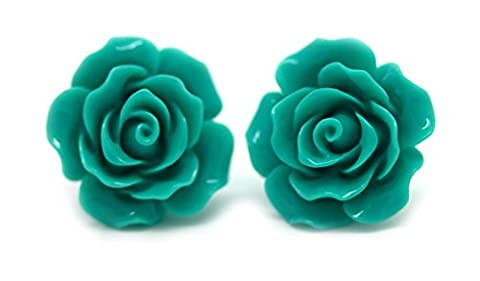 80s Theme Party Outfit - Bluebubble Boucles d'oreilles à tige rose anglaise