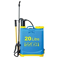 Elito Home & Garden New Pressure Pump Sprayer Shed Fence Weed Killer Insect Pest Control Knapsack Spray (20Litre)