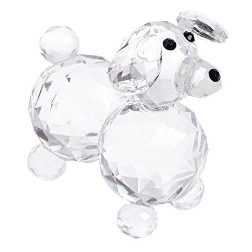 London boutique cane di cristallo decorativo con cristalli swarovski elements, regalo prsent (7508 singolo)