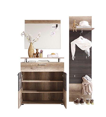preisvergleich trendteam 1406 915 58 garderobe garderobenkombination willbilliger. Black Bedroom Furniture Sets. Home Design Ideas
