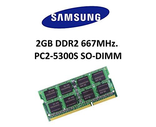 Samsung 2GB DDR2 667Mhz PC2-5300 200pin SO DIMM Notebook Arbeitsspeicher RAM 3rd Memory (Ddr2 Ram Computer)