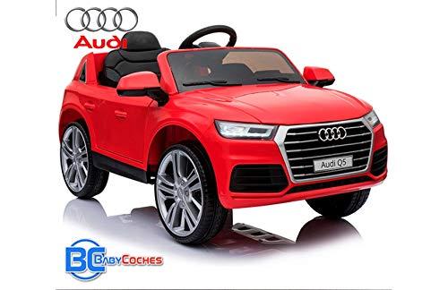 BC BABY COCHES Coche eléctrico para niños Audi Q5 de batería 12v - Licencia Oficial con Mando teledirigido de Padres 2.4Ghz (Rojo)