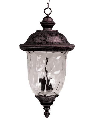 Maxim Lighting 40427WGOB Carriage House VX 3-Light Outdoor 24.5-Inch Hanging Lantern, Oriental Bronze Finish by Maxim Lighting (Lighting Bronze-beleuchtung Maxim)