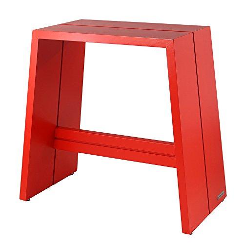 NATUREHOME Design-Hocker Massivholz buche rot ohne Griff