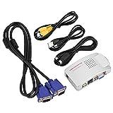 VGA à RCA Convertisseur Vidéo Box S Vidéo Commutateur d'Adaptateur de Signal VGA...