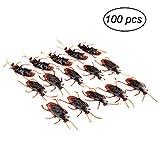 Tinksky 100 Stück Kakerlaken Scherzartikel für Halloween Party Dekoration