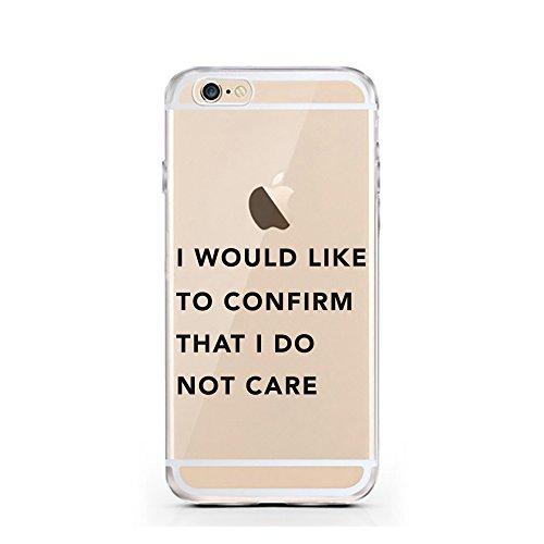 iPhone 6S Hülle von licaso® für das Apple iPhone 6 & 6S aus TPU Silikon Schwarze Punkte Black Dots Fashion Style Muster ultra-dünn schützt Dein iPhone & ist stylisch Schutzhülle Bumper Geschenk (iPhon Do not Care