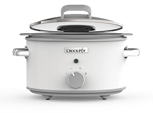 Crock Pot DuraCeramic CSC038X Olla de cocción lenta manual 4 5 l color blanco