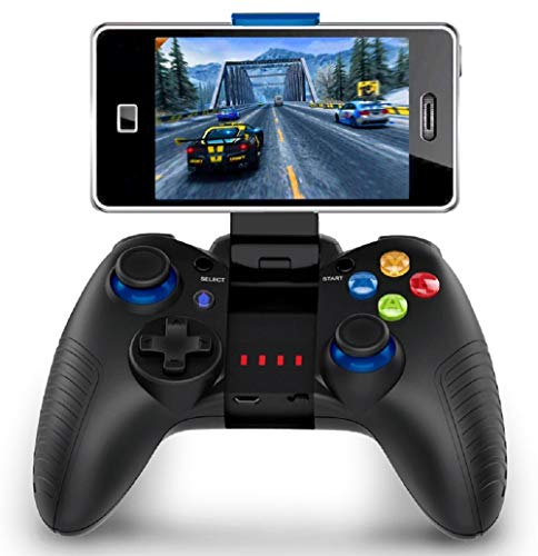 Mobiler Gamecontroller, PowerLead PG8710 Gaming Controller, Bluetooth 4.0 Wireless Gamepad Hervorragend geeignet für PUBG & Fotnite & More. Unterstützt iOS Android iPhone iPad Samsung Galaxy -