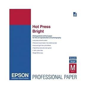 Epson Hot Press Bright, DIN A2, 25 Blatt inkjet paper - printing paper (DIN A2, 25 Blatt, A2)