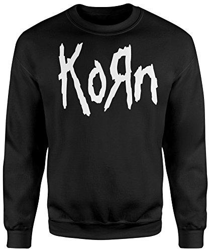 LaMAGLIERIA Unisex-Sweatshirt Korn White Print - Set-In Sweatshirt, S, Schwarz (Korn Pullover)