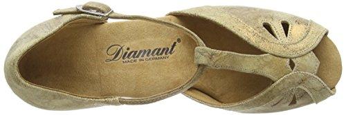 Diamant - Diamant Damen Tanzschuhe 019-011-017, Scarpe Da Ballo - Standard & Latino da donna Marrone (Braun (Bronze Magic))