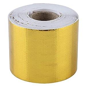 Cinta Adhesiva, 1 Rollo de oro del Coche de Aluminio Cinta Adhesiva Cinta Adhesiva Reflectante Escudo Protector Térmico…