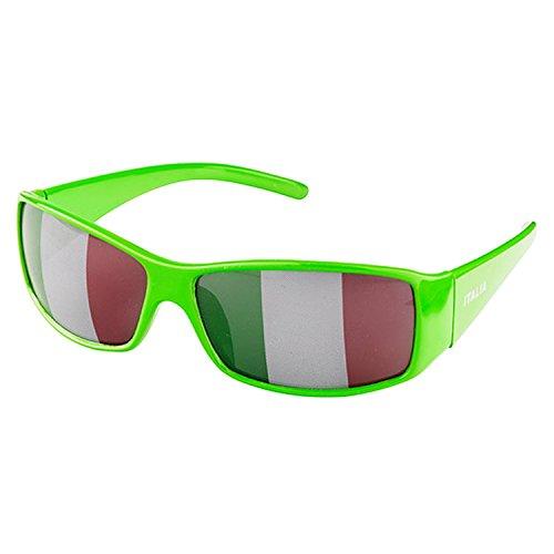 Piersando Sonnenbrille Brille Fahne Fussball EM & WM Länderflagge Augen Fanartikel Land Flagge Italien