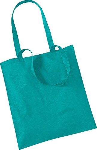 Westford Mill Shopper Handtasche Aufbewahrung Reisetasche Promo Schulter Tasche One Size Grün - Smaragdgrün
