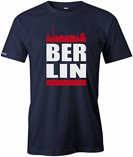 Jayess Berlin Skyline - Herren - T-Shirt in Navy by Gr. XL