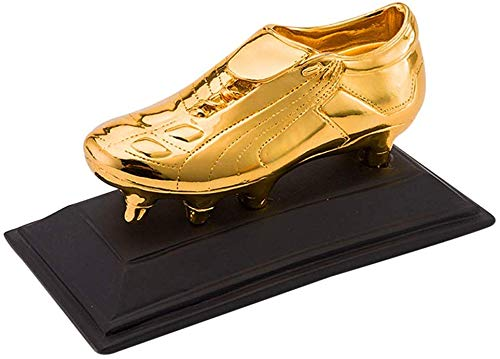 ATLT Trofei, medaglie Premi Golden Boots Trophy Football Soccer Shooter Trophy School Sports Trophy Compleanno Decorazione ufficio Oro, argento e rame,Oro,10 * 10 * 19cm