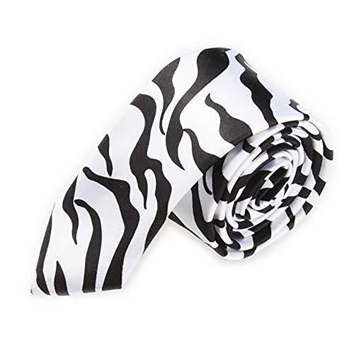 TopTie Unisex New Fashion Schwarz & Weiß College Stripe Skinny 5,1cm Zoll Sonnenbrille, IBCH-HC09076A_ZEBRA-SKINNY