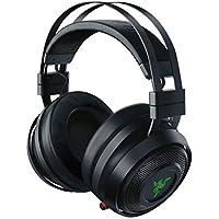 Razer Nari Auriculares para juegos con THX Spatial Audio, Almohada de gel de enfriamiento, Audio inalámbrico de 2.4 GHz y micrófono con balance de juego/chat, Negro