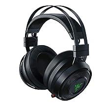 Razer Nari Wireless Gaming Headset, Cuffie da Gioco Senza Fili dal Comfort Ottimo, THX Spatial Audio Bilanciamento Gioco/Chat, Cuscinetti con Infusione di Gel Rinfrescante, Nero