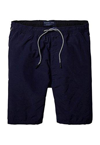 Scotch & Soda Herren Shorts Medium Length Colourful Swim Short in Cotton/Nylon Quality Blau (Night 02)