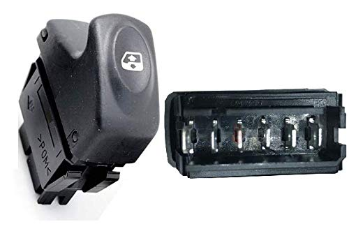 FFTH 6-Pin Schalter für Fensterheber für Renault Megane 1 Clio Kangoo (Grau) 7700421119