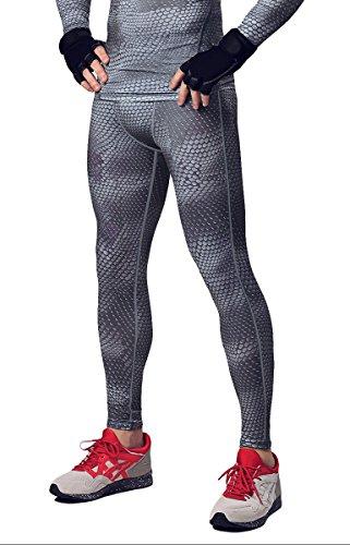 HonourSport Herren Kompressionshose Leggings Cool Base Layer Tights Joggingpants Dunkelgrau