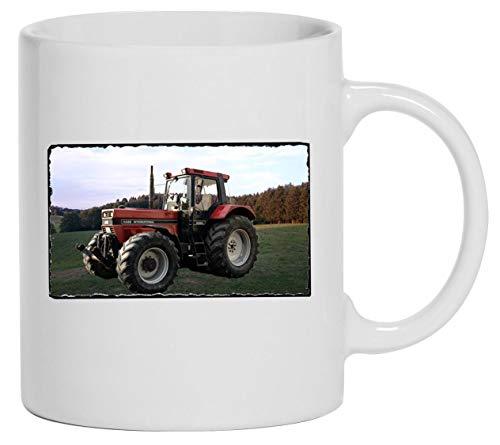 Bimaxx Tasse | Kaffeebecher | Traktor Abbildung IHC Case 1455XL | weiß