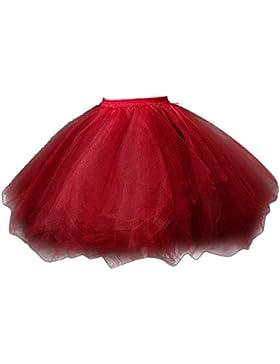 Feoya Falda Plisada Corta de Tul Princesas Danza Ballet Tutú Tutu Skirt para Mujer