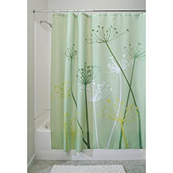 InterDesign Thistle Shower Curtain, High Bathtub Curtain, Made of ...