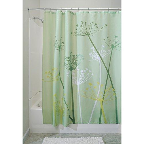 InterDesign 37220EU Thistle Duschvorhang, Polyester, Grün, 183 x 183 cm    Stoff Dusche Vorhang Grün