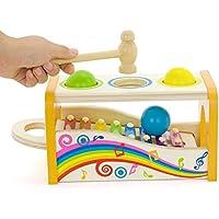 QXMEI Jouet pour Enfants Musique en Bois Combinaison Piano à Cordes Jouet  18 Mois Taille  09209e41d272
